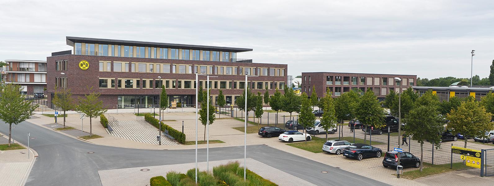 Außenansicht Borussia Dortmund BVB Geschäftsstelle Verwaltung Bürogebäude