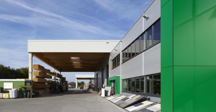 Baustoffe Geulen; Hagebau; Hallenbau; Industriegbäude SHA Scheffler Helbich Architekten Dortmund