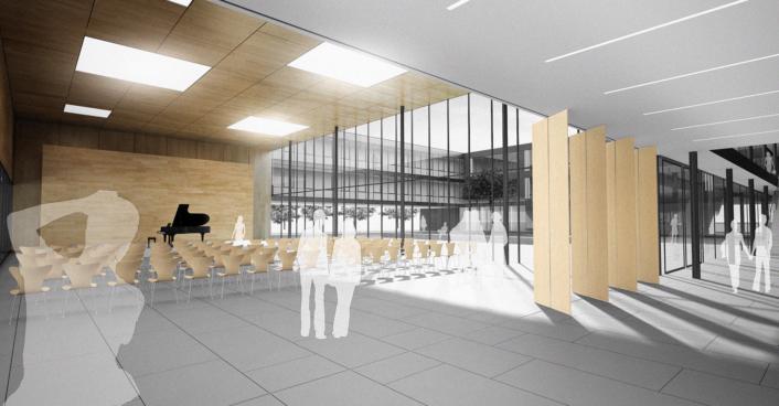 Blick Aus Dem Foyer In Richtung Schulhof Gesamtschule Elmshorn