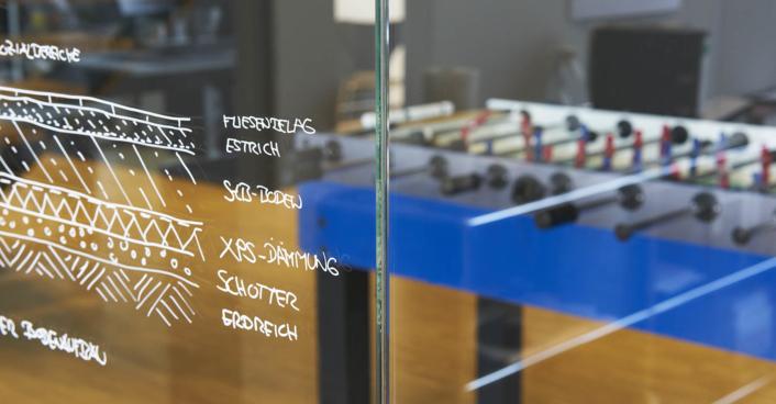 Büro Skizze Kicker Architektur