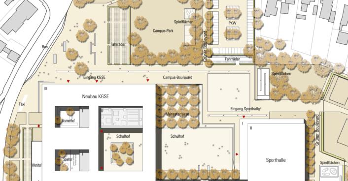 Lageplan Gesamtschule Elmshorn
