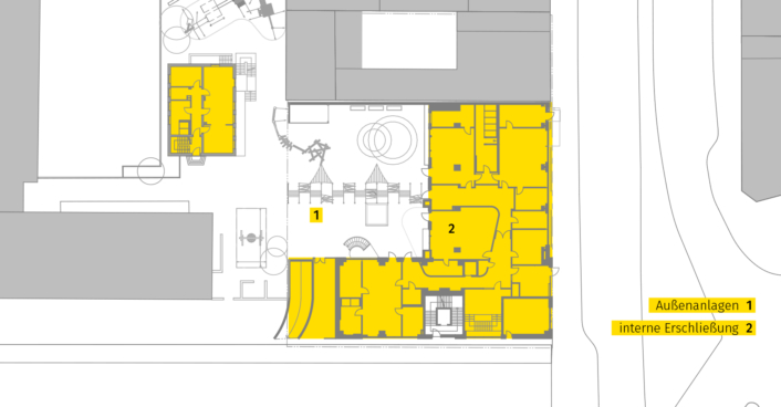 Lageplan Kita Lortzingstraße Grundriss EG