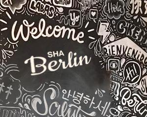 kreideschild welcome to berlin